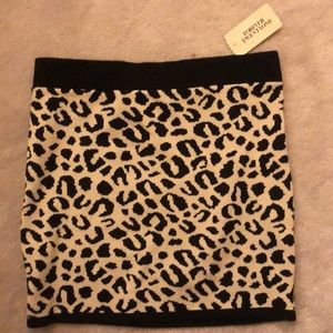 Forever 21 mini bodycon cheetah skirt